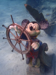 Mickey Mouse under water on Castaway Cay